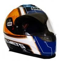 Casco Integral MT Thunder LG Bull Blanco/Azul/Naranja