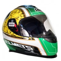 Casco Integral MT Thunder LG Bull Blanco/Verde/Amarillo