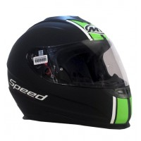 Casco Integral MT Thunder LG Speed Negro/Verde