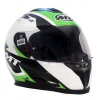 Casco Integral MT Thunder LG Ace Blanco/Negro/Verde